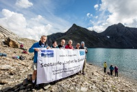 v.l.n.r.: Gallus Cadonau, Martina Fehr, Hans Andrea Veraguth, Dr. Duri Blumenthal, Ignaz Deplazes, Ernst Bromeis (© Andrea Badrutt)